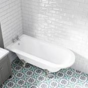 New (J5) 1700mm Single Ended Roll Top Bath - Chrome Feet. Rrp £1,119.99.Traditional Single End...
