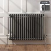 New Boxed 600x828mm Anthracite Double Panel Horizontal Colosseum Traditional Radiator.Rca563.RR...