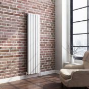 New 1600x360mm Gloss White Double Flat Panel Vertical Radiator. RRP £382.99.We Love This Beca...