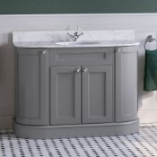 New & Boxed 1200mm York Earl Grey Vanity Unit. RRP £3,499.Comes Complete With Countertop And ...
