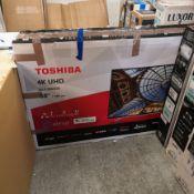 Toshiba 50ul2063db 50 inch 4k ultra hd, hdr, freeview play, smart tv 71x113x25cm rrp: £670.0