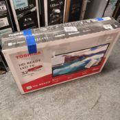 Toshiba 32wl3a63db 32 inch hd ready, freeview play, smart tv [black] 78x74x19cm rrp: £358.0