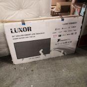 Luxor 55inch 4k uhd, freeview play, smart tv [black] 79x125x28cm rrp: £622.0