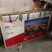Toshiba 65u2963db 65 inch 4k ultra hd, hdr, freeview play, smart tv [black] 90x147x25cm rrp: £778.0