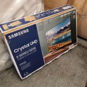Samsung ue43tu8500 43 inch dual led, 4k ultra hd, hdr, smart tv [black] 65x97x34cm rrp: £958.0