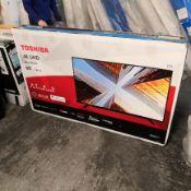 Toshiba 65ul2063db 65 inch 4k ultra hd, hdr, freeview play, smart tv [black] 90x147x25cm rrp: £898.0