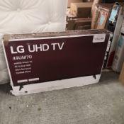 Lg 49um7050 49 inch ultra hd 4k, hdr, smart tv [black] 71x111x24cm rrp: £628.0