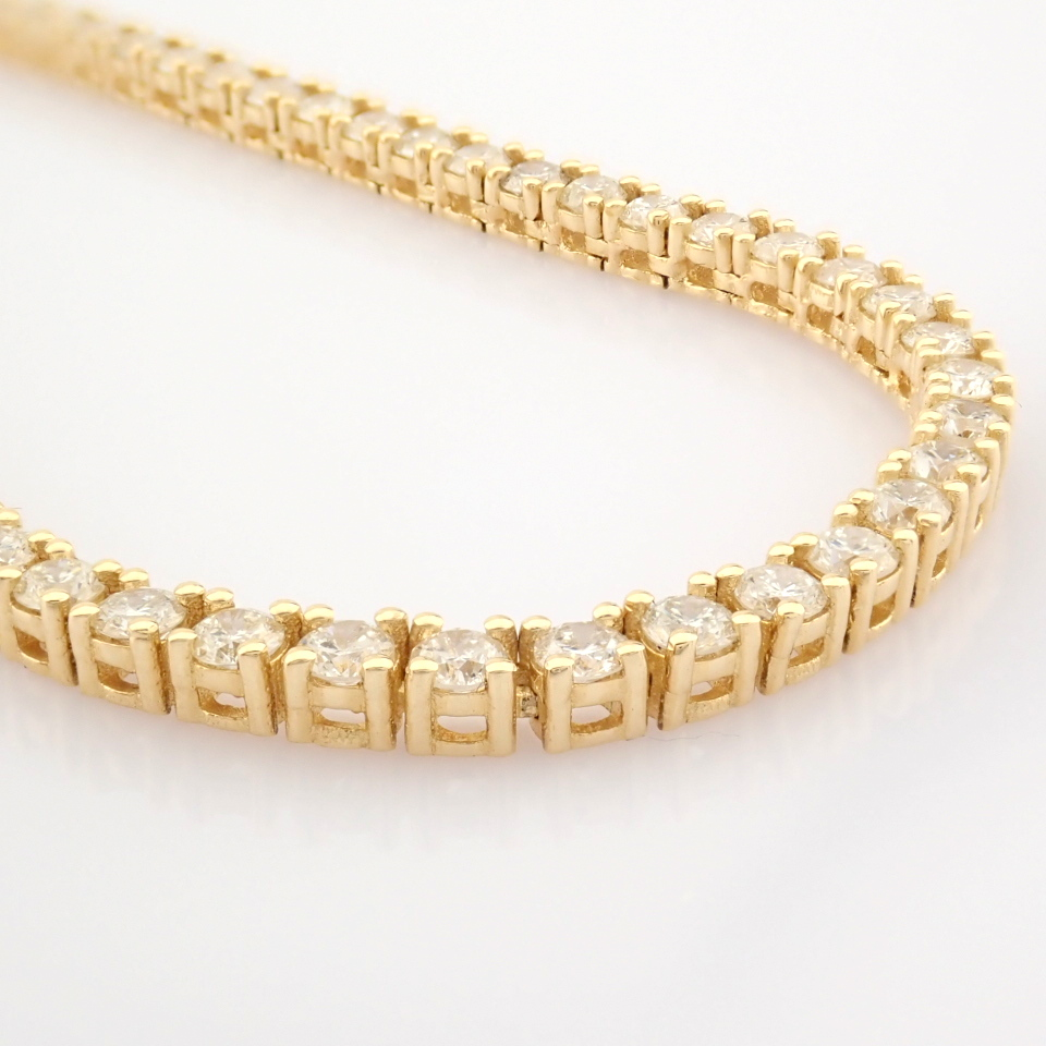 14K Yellow Gold Half Eternity Necklace 3,20 Ct. - Image 13 of 14