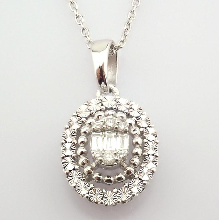 14K White Gold Diamond Necklace - Image 4 of 6