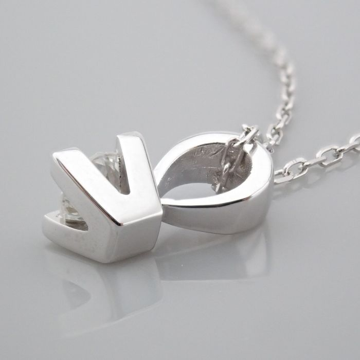 18 kt. White gold - Necklace with pendant - 0.18 Ct. Diamond - Image 5 of 7