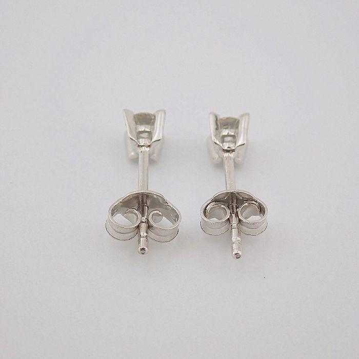 14 kt. White gold - Earrings - 0.20 Ct. Diamond - Image 5 of 6