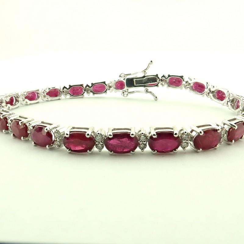 14K Diamond & Ruby Bracelet 11,87ct Total - Image 2 of 5