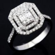 14 kt. White gold - Ring - 0.62 Ct. Diamond