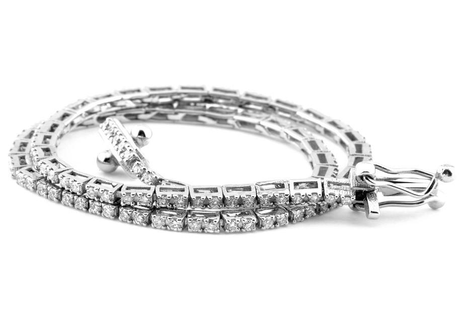 14K 0,60 Ct. Diamond Tennis Bracelet (Cube) - Image 2 of 3
