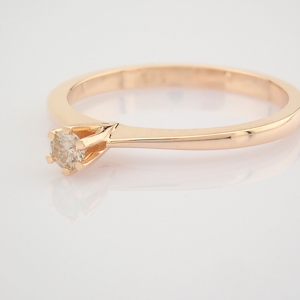 14 Rose/Pink Gold Diamond Solitaire Ring - Image 3 of 8
