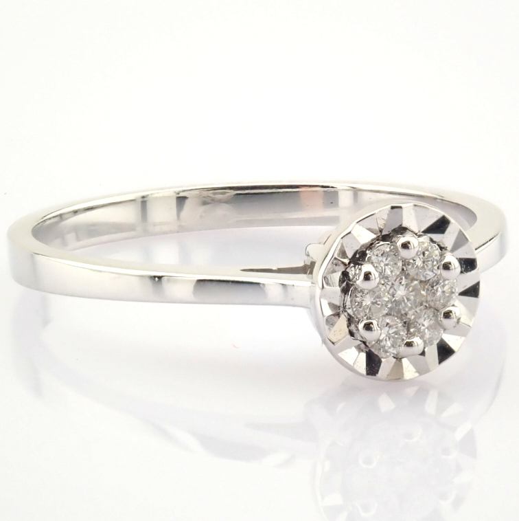14K White Gold Diamond Ring - Image 6 of 7