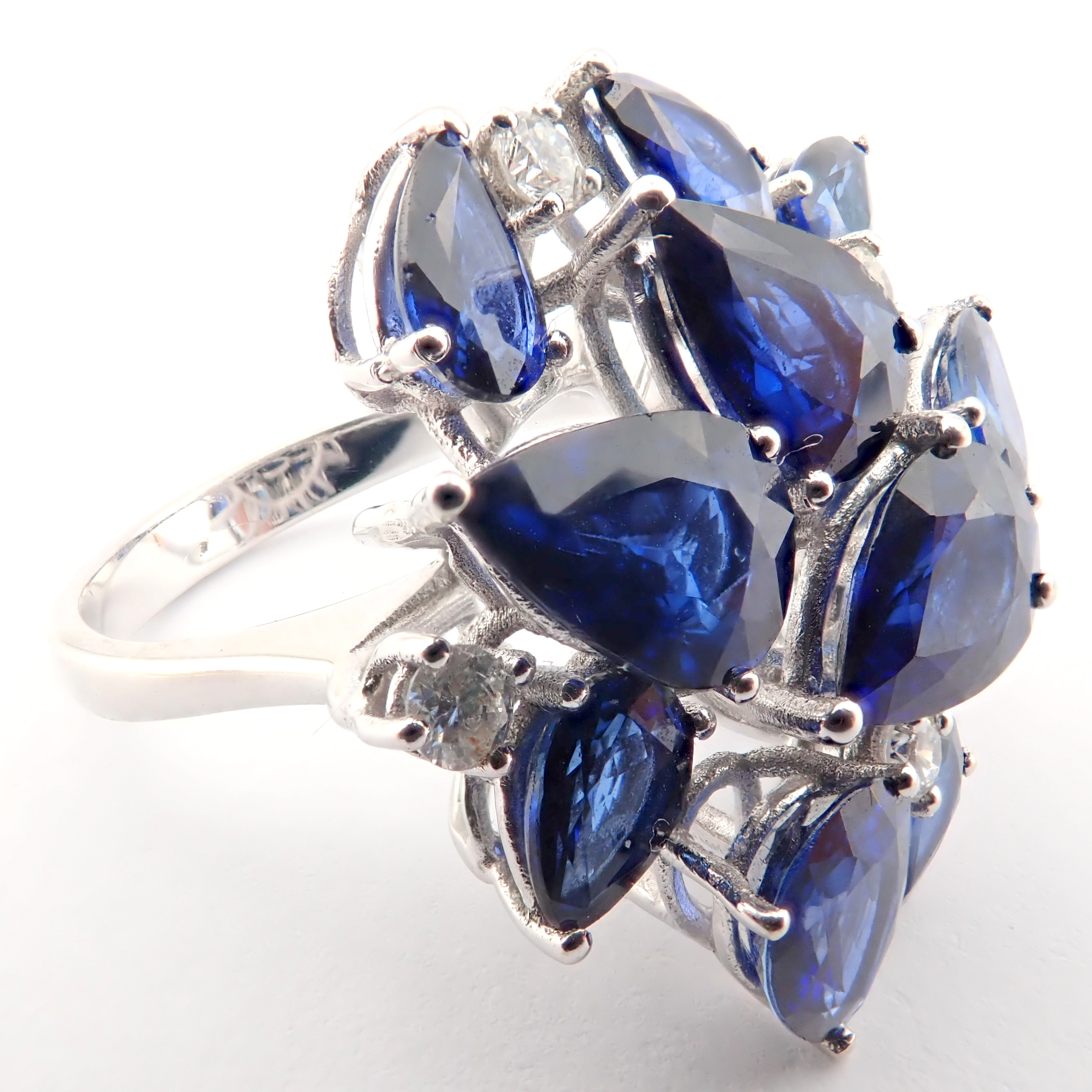 14K Sapphire and Diamond Ring - Image 6 of 7