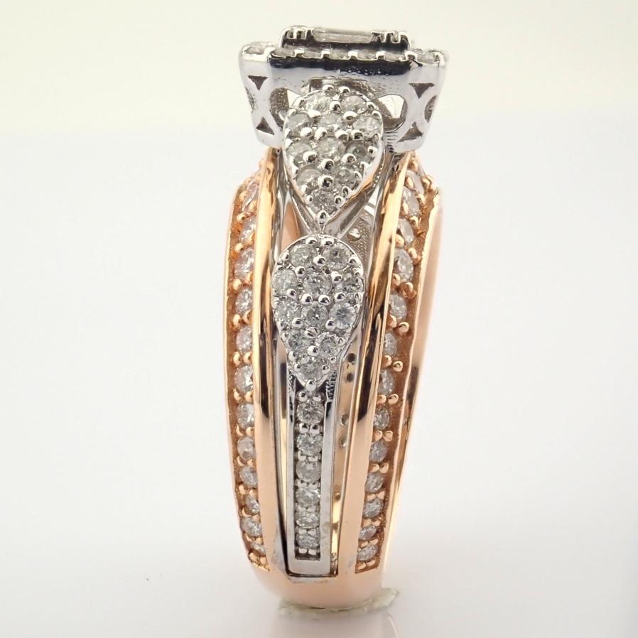14K White and Rose Gold Diamond Ring - Image 3 of 8