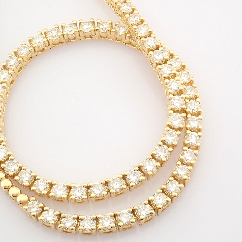 14K Yellow Gold Half Eternity Necklace 3,20 Ct. - Image 8 of 14