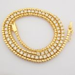 14K Yellow Gold Half Eternity Necklace 3,20 Ct.