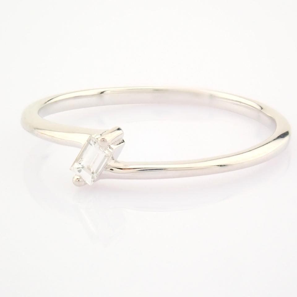 14K White Gold Diamond Ring - Image 9 of 12