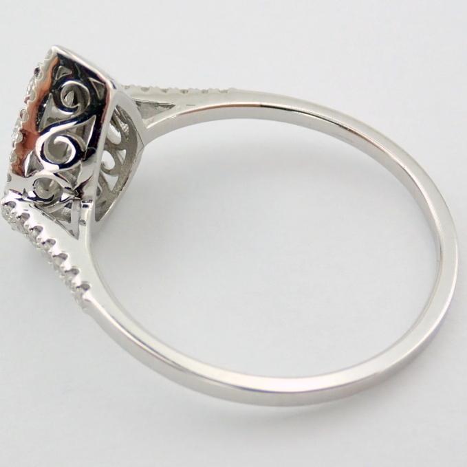 14 kt. White gold - Ring - 0.53 Ct. Diamond - Image 5 of 5