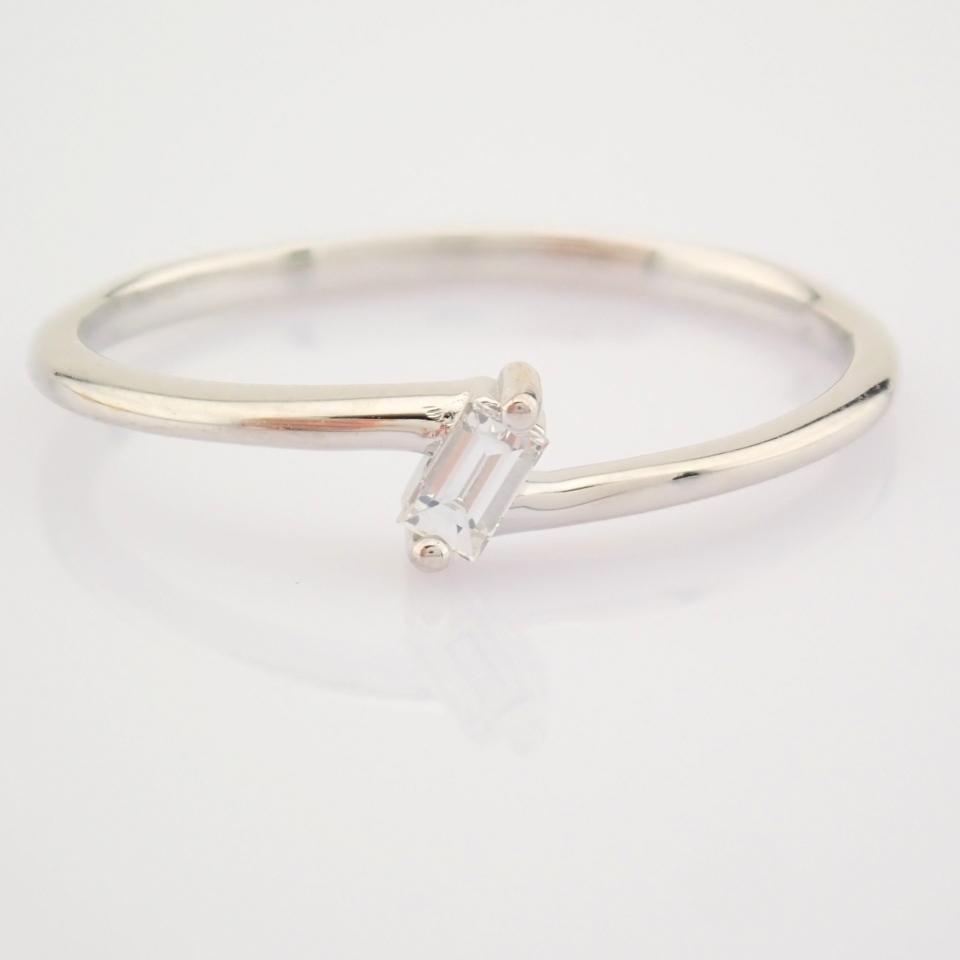 14K White Gold Diamond Ring - Image 6 of 12