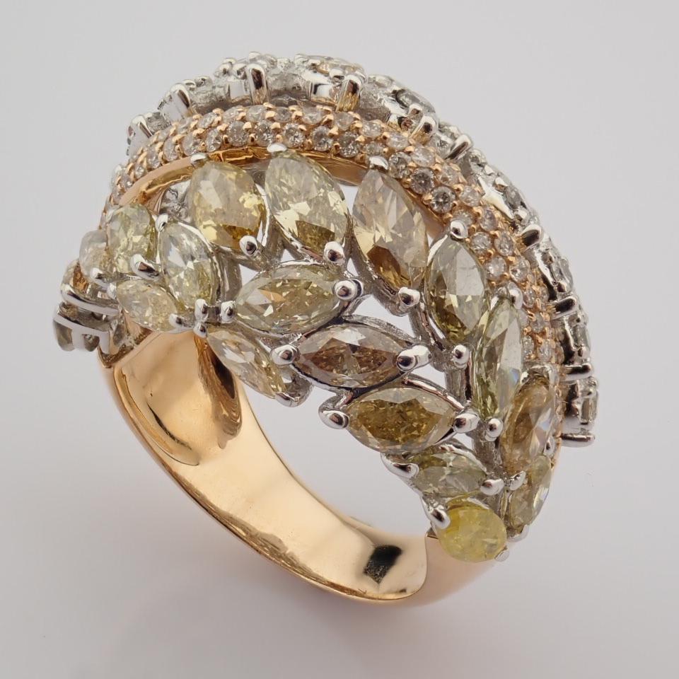 18K Rose Gold Ring- Total 4,31 Ct. Diamond - Image 4 of 8