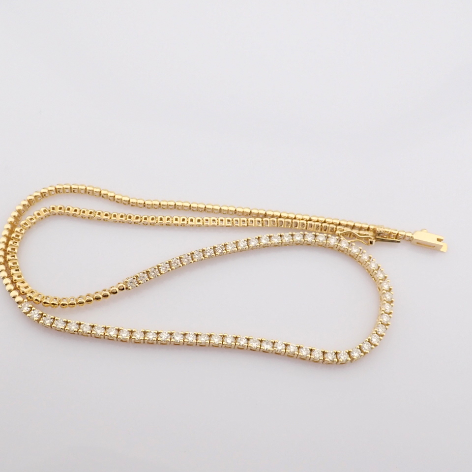 14K Yellow Gold Half Eternity Necklace 3,20 Ct. - Image 2 of 14