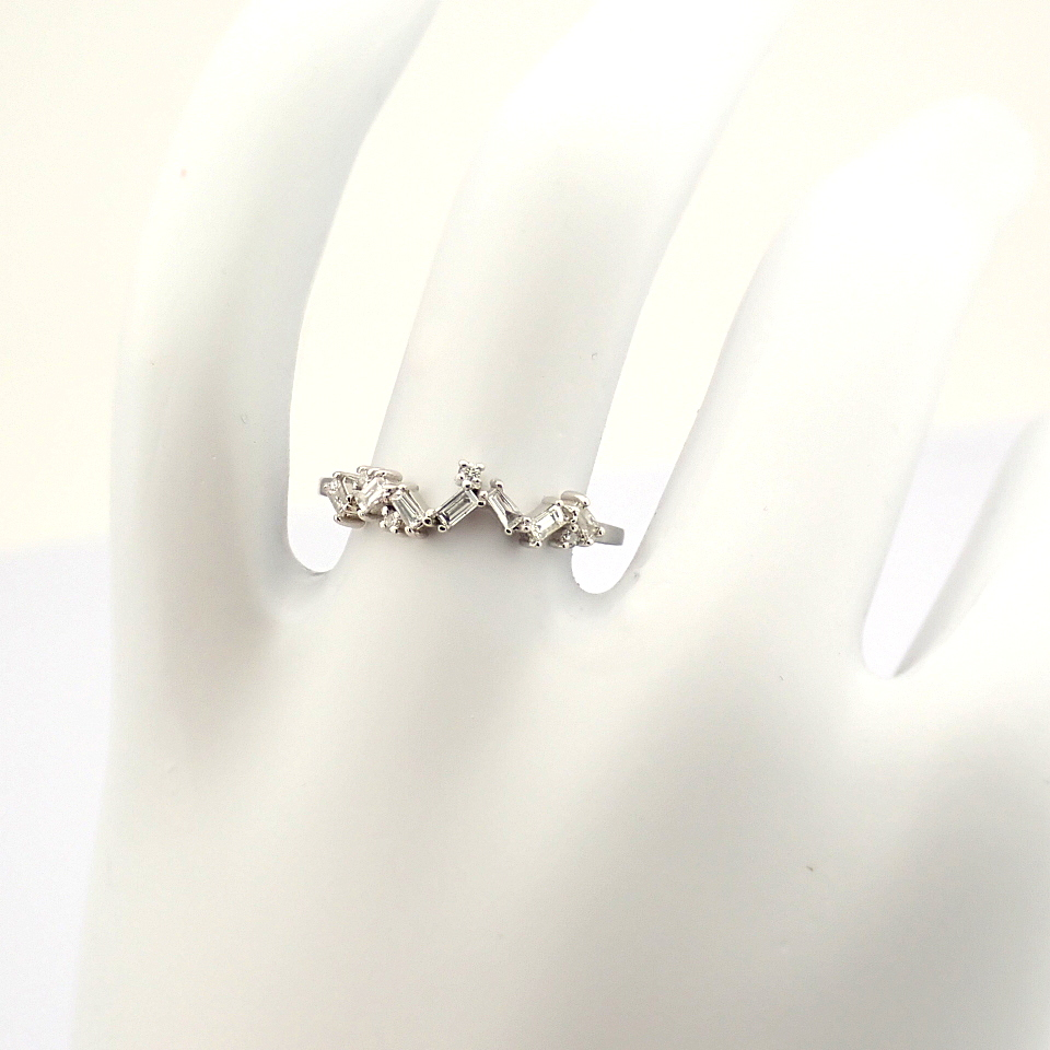 14K White Gold Diamond Ring - Image 9 of 9