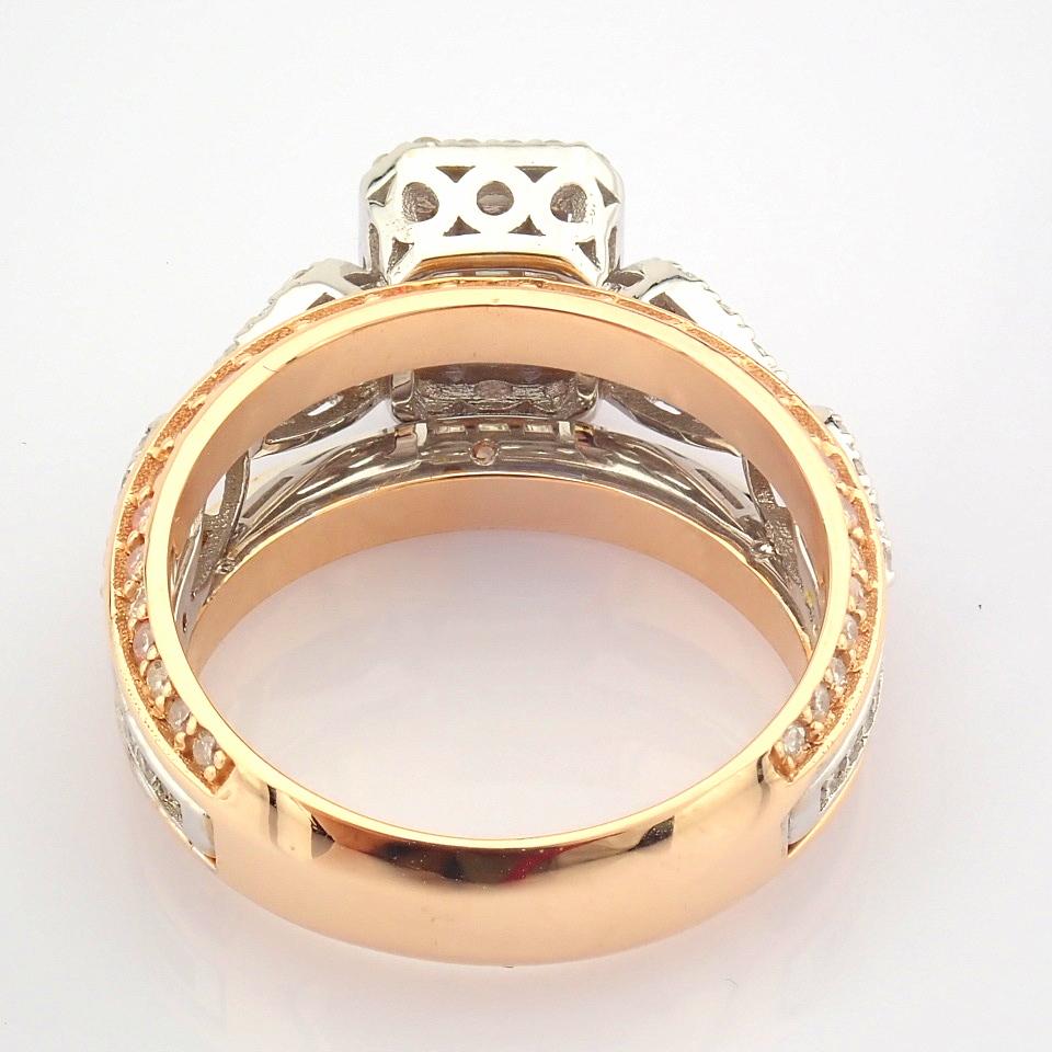 14K White and Rose Gold Diamond Ring - Image 7 of 8