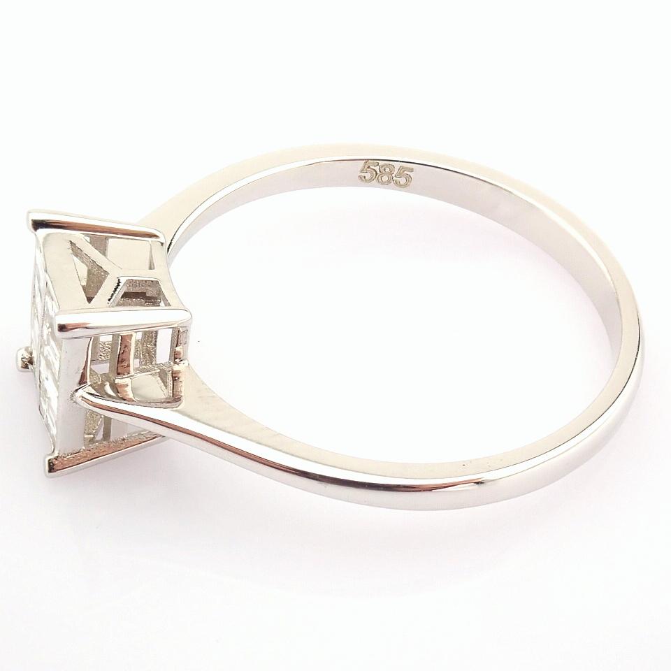 14K White Gold Diamond Ring - Image 7 of 8