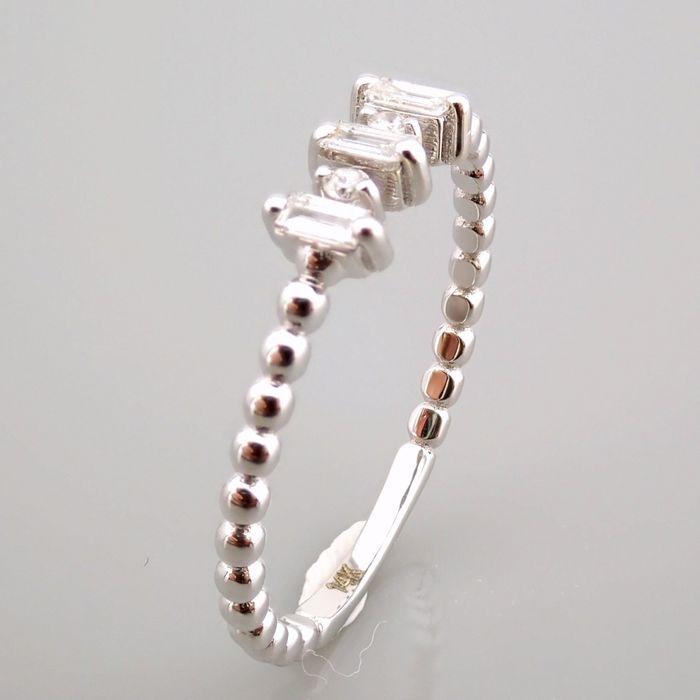14 kt. White gold - Ring - 0.12 Ct. Diamond - Image 2 of 13