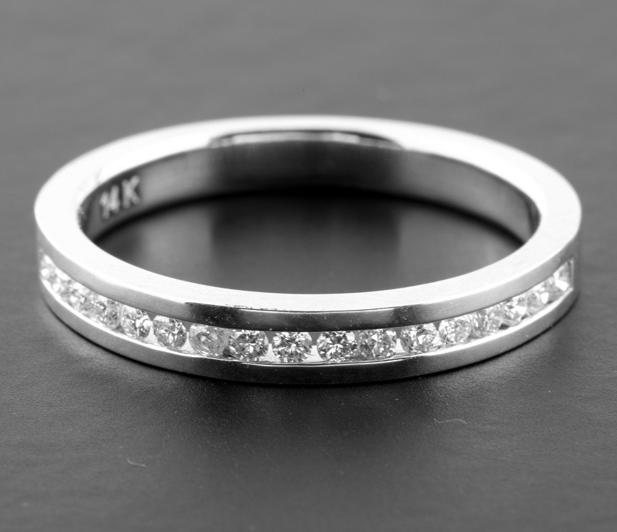 14K White Gold Half Eternity Ring 0,28 Ct. - Image 2 of 3