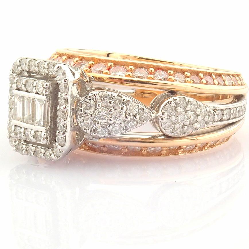14K White and Rose Gold Diamond Ring - Image 5 of 8