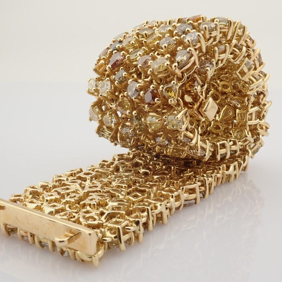 18K Yellow Gold Bracelet- 33,46 Ct. Natural Fancy Diamond - Image 6 of 10