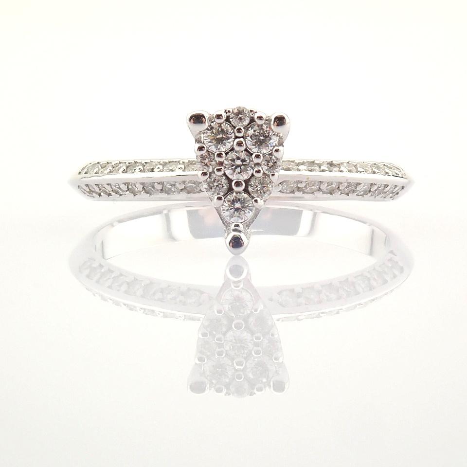 14K White Gold Diamond Ring - Image 4 of 7