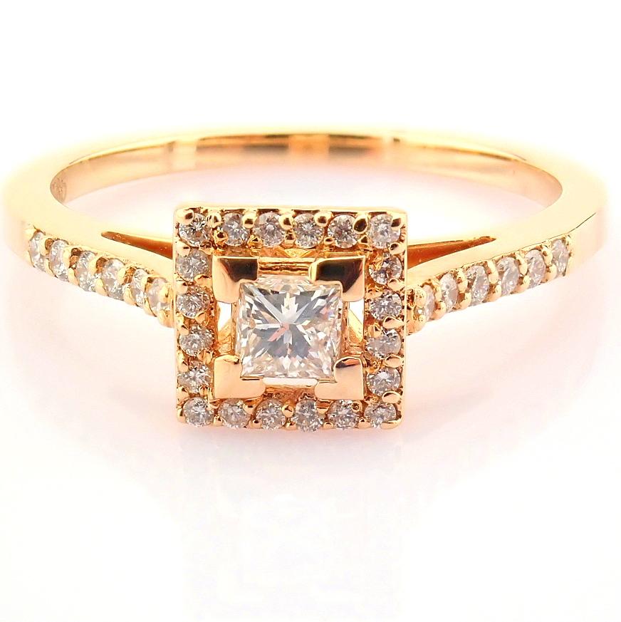 14K Yellow and Rose Gold Diamond Ring