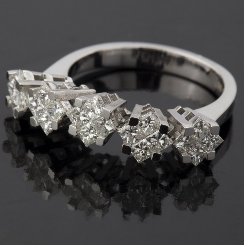 14 kt. White gold - Ring - 1.06 Ct. Diamond - Image 2 of 7