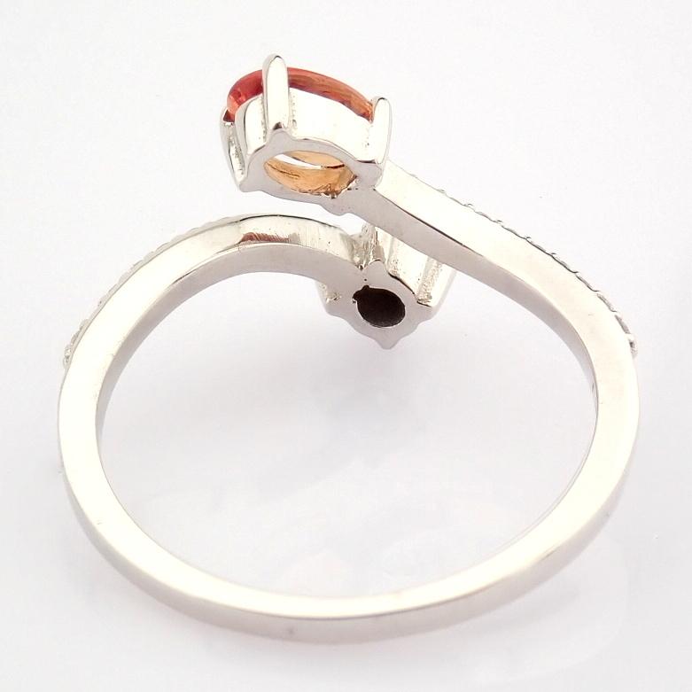 14K White Gold Diamond & Pink Sapphire Ring - Image 3 of 7