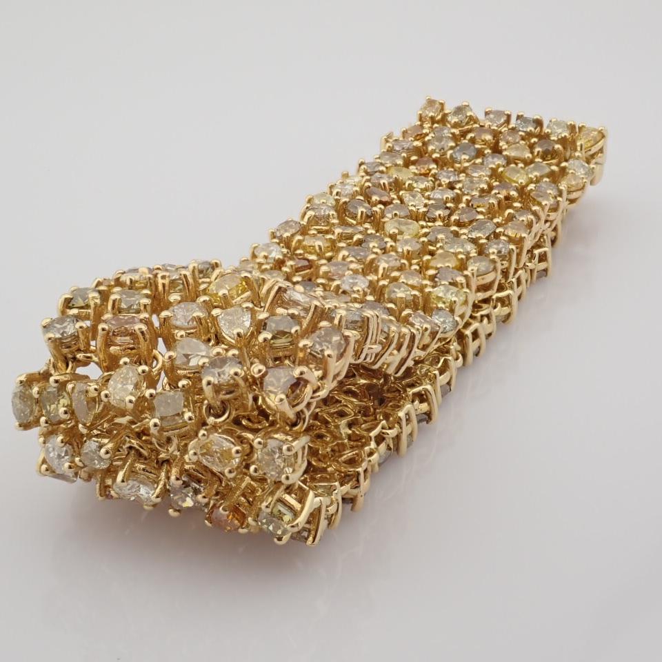 18K Yellow Gold Bracelet- 33,46 Ct. Natural Fancy Diamond - Image 8 of 10