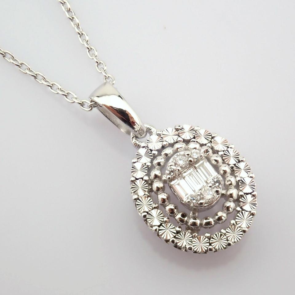 14K White Gold Diamond Necklace - Image 3 of 6