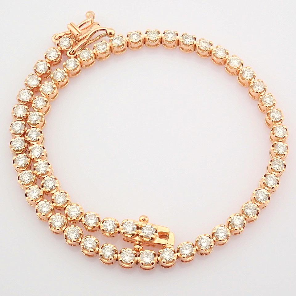 2,10 Ct. Diamond Tennis Bracelet (Crown) - 14K Rose Gold - Image 8 of 14