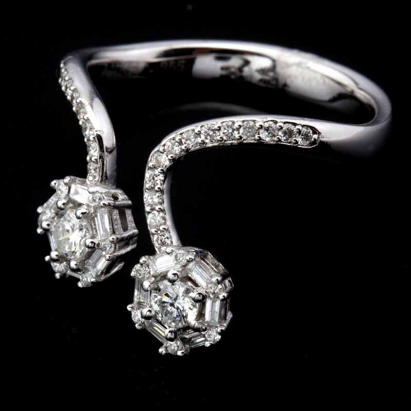 14 kt. White gold - Ring - 0.57 Ct. Diamond - Image 2 of 7