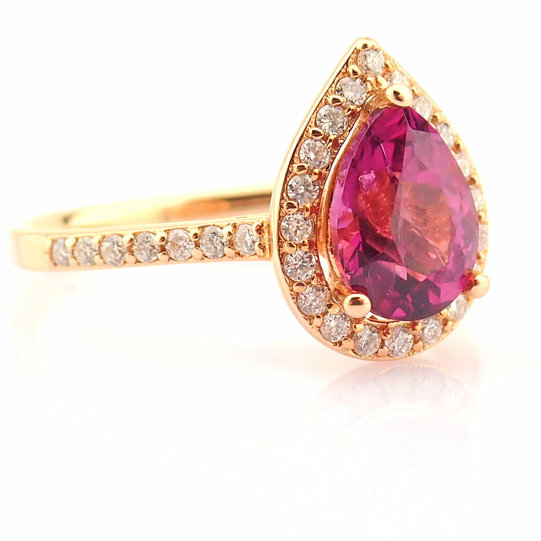 14K Yellow and Rose Gold Diamond & Rodalite Ring - Image 7 of 7
