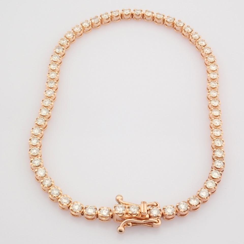 2,10 Ct. Diamond Tennis Bracelet (Crown) - 14K Rose Gold - Image 11 of 14