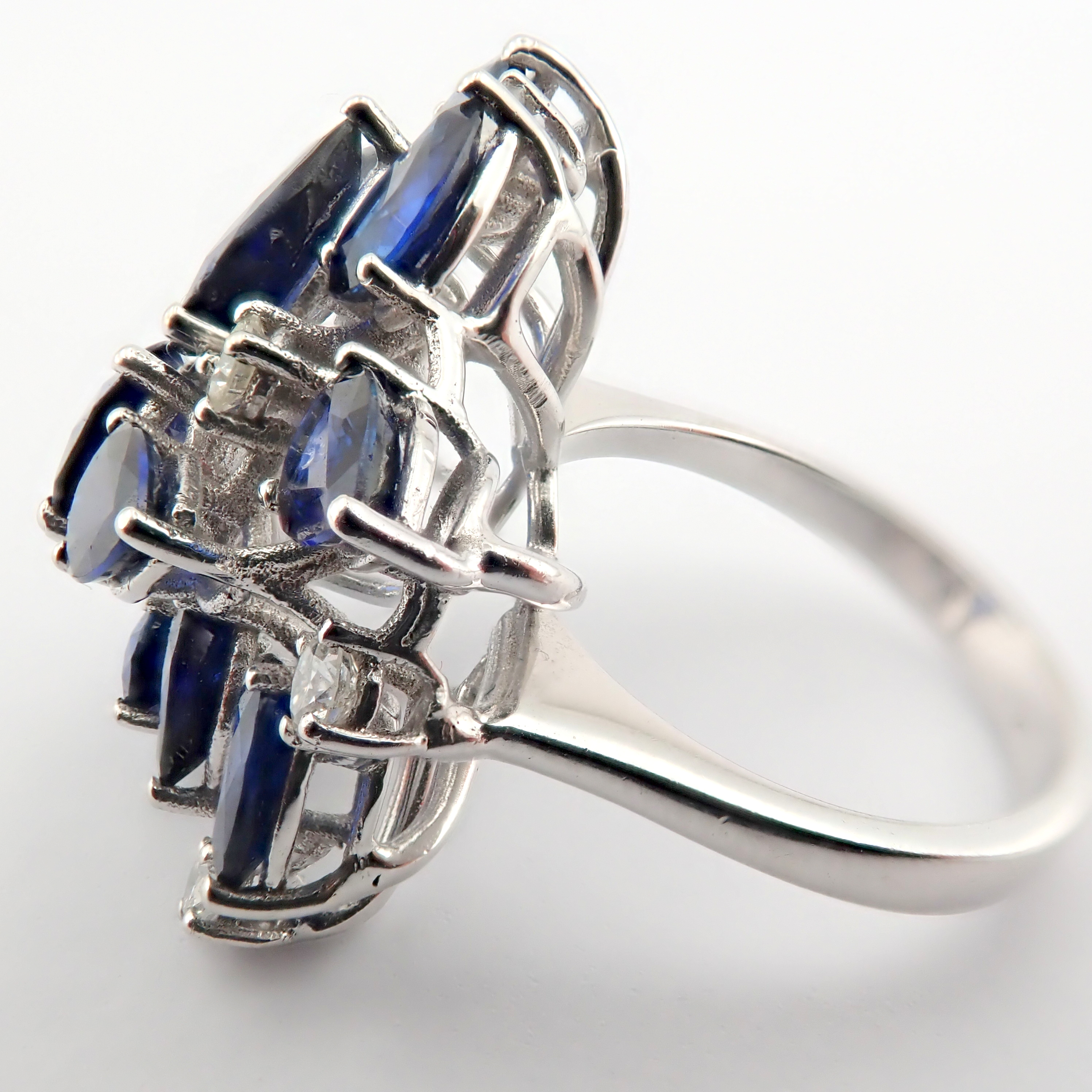 14K Sapphire and Diamond Ring - Image 5 of 7