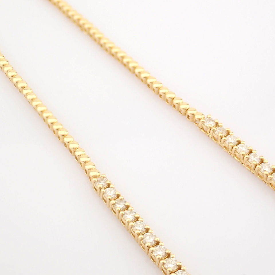14K Yellow Gold Half Eternity Necklace 3,20 Ct. - Image 12 of 14