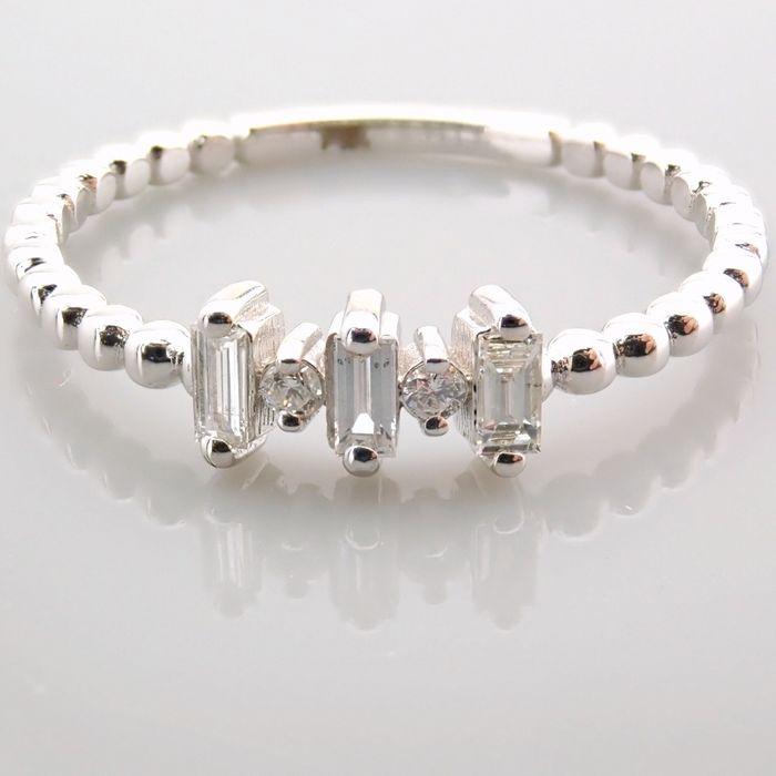 14 kt. White gold - Ring - 0.12 Ct. Diamond - Image 11 of 13