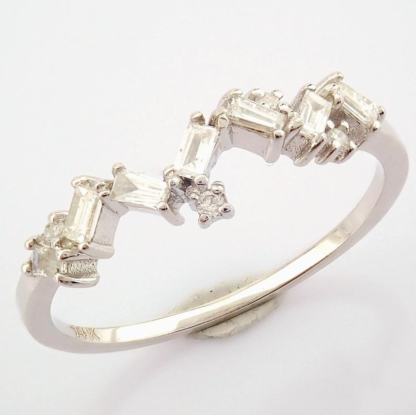 14K White Gold Diamond Ring - Image 2 of 9